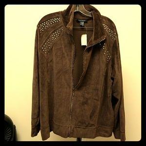 Brown velour sweat suit